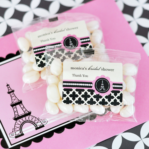 Personalized Jelly Bean Packs - Parisian Party
