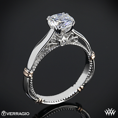 White Flash Diamond Engagement Ring