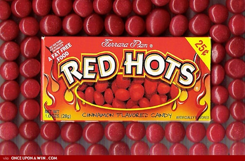 Red Hots Wedding Favor