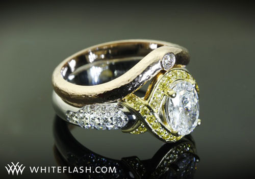 White Flash Yellow Diamond Ring
