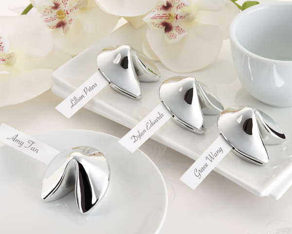 &quot;Good Fortune&quot; Fortune Cookie Place Card Holder