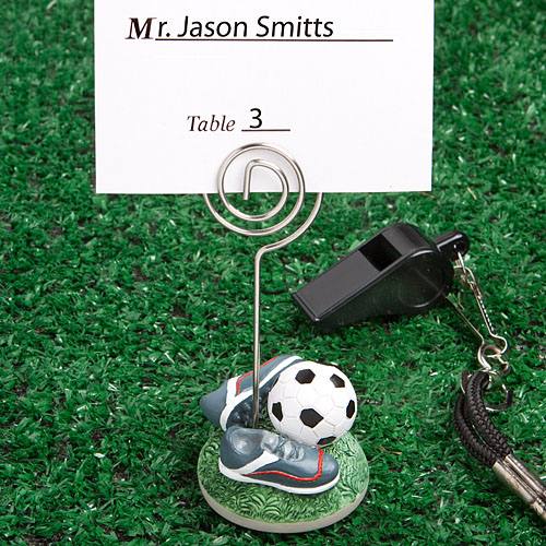 Soccer Themed Place Card Holders