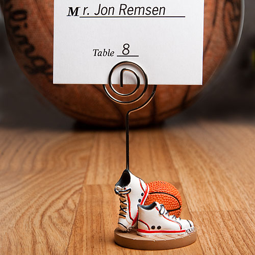 Basketball-Themed Place Card Holders