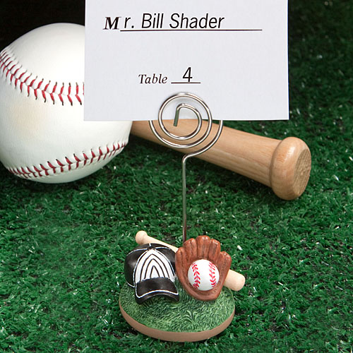 Baseball Themed Place Card Holders