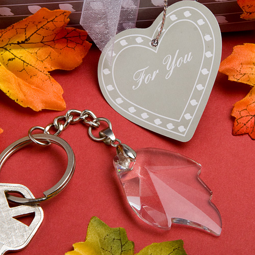 Choice Crystal Collection Leaf Key Chain Favors