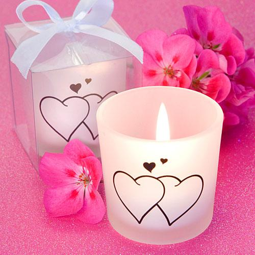 Favor Saver Collection Snuggling Heart Themed Candles