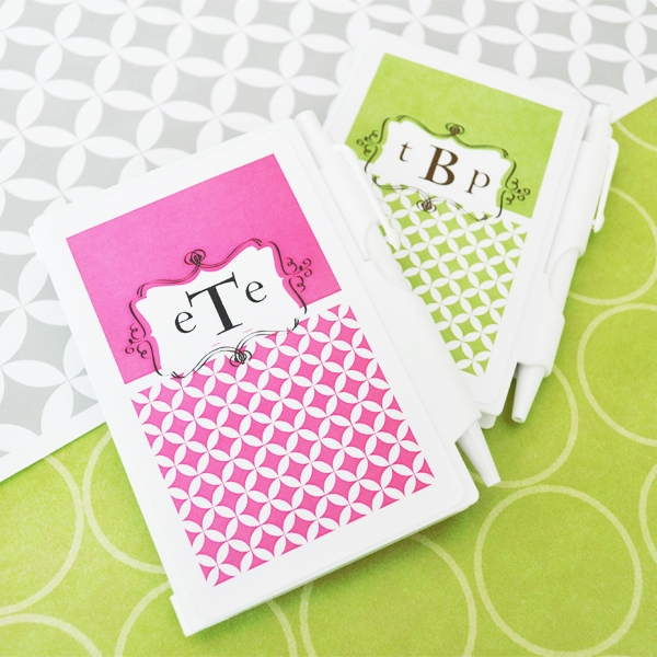 Mod Monogram Personalized Notebook Favors