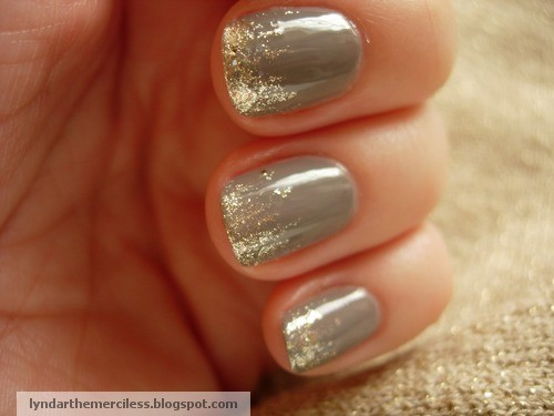 Silver and Gray Manicure