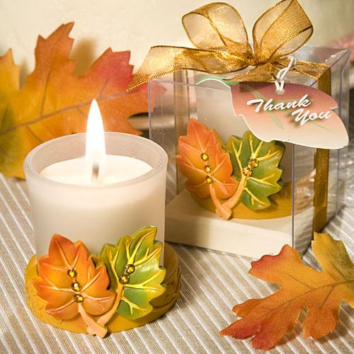 Leaf Design Candle Favors