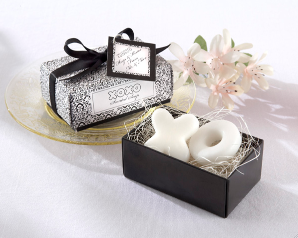"""Hugs & Kisses From Mr. and Mrs."" Scented Soaps"