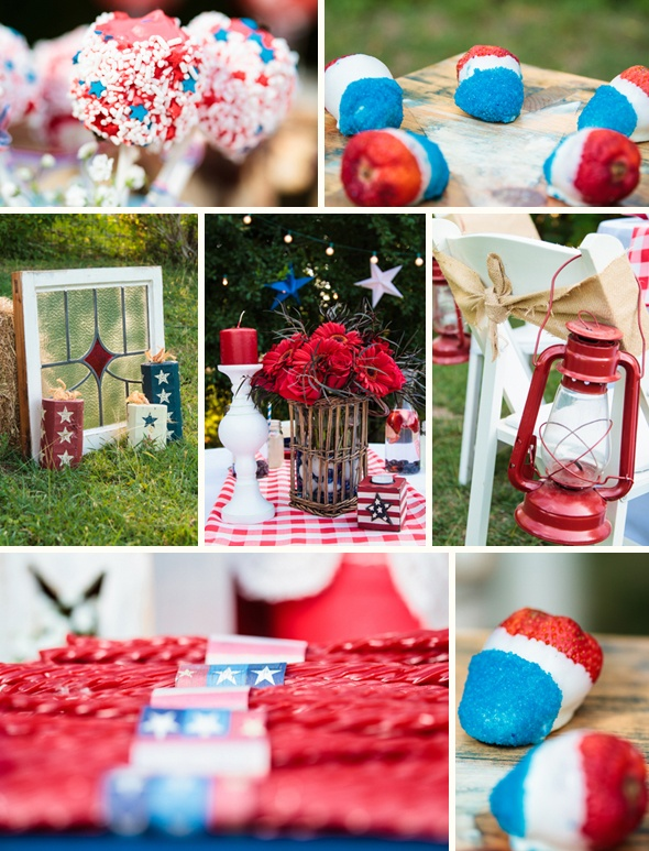 Red White and Blue Fourth of July Wedding