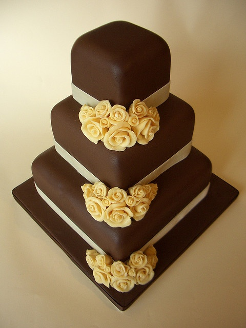 Yellow Cake with Chocolate