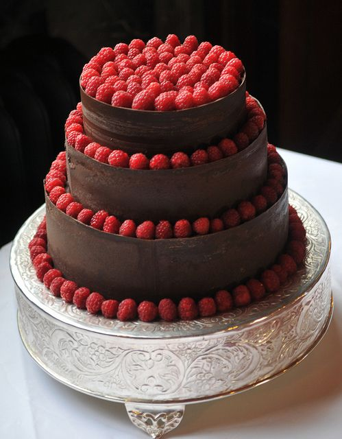 Chocolate and Raspberry Wedding Cake