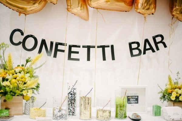 Confetti Bar at Wedding