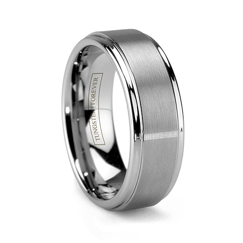 MATTINO Brushed Tungsten Wedding Band
