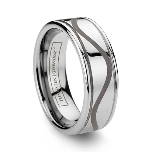 WAVE Design Tungsten Wedding Ring