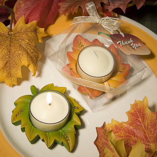 Autumn Themed Candle Favor