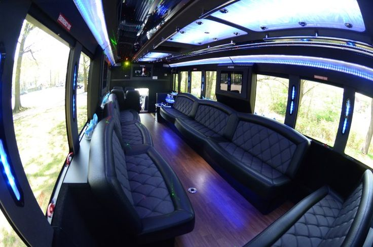 Inside on Limo Bus