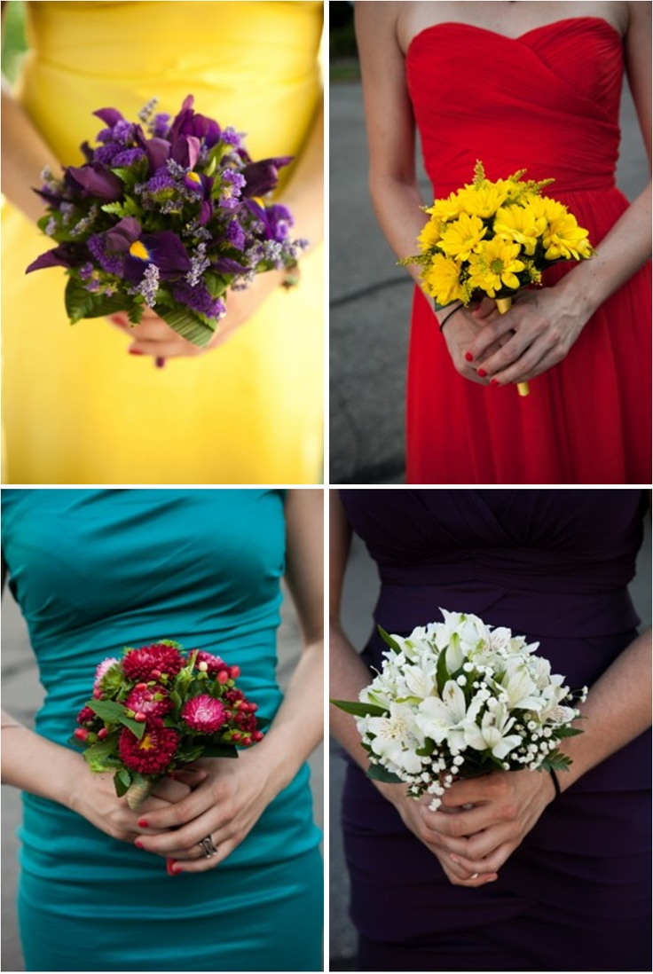 Bright and Colorful Bridesmaid Dresses