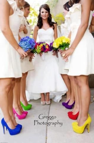 Colorful Wedding Shoes for Bridesmaids