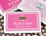Personalized Sweet Sixteen (or 15) Mini Mint Favors wedding favors
