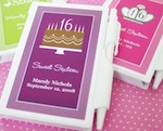 Sweet 15/16 Personalized Notebooks wedding favors