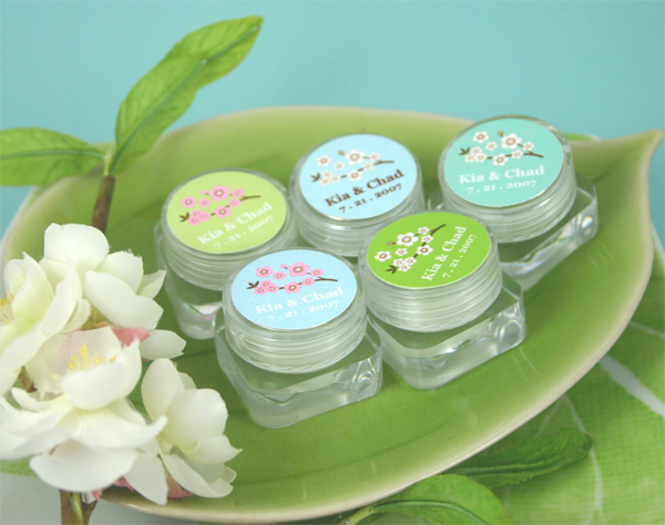 Cherry Blossom Lip Balm wedding favors