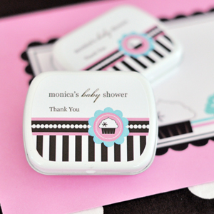 Personalized Mint Tins - Cupcake Party wedding favors