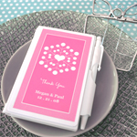 """Snowy Notes"" Notebook Favors wedding favors"