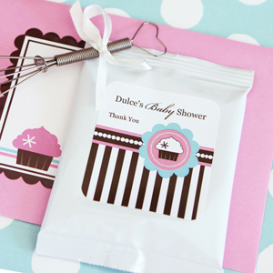 Personalized Hot Cocoa + Optional Whisk - Cupcake Party wedding favors