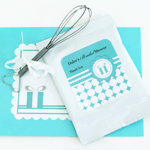 Personalized Hot Cocoa + Optional Whisk - Something Blue  wedding favors