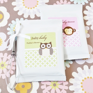 Baby Animals Personalized Hot Cocoa + Optional Heart Whisk  wedding favors