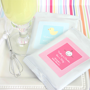 """Nothing is Sweeter than a Baby"" Personalized Lemonade with optional whisk wedding favors"