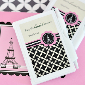 Personalized Notebook Favors - Parisian Party  wedding favors