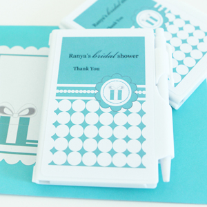Personalized Notebook Favors - Something Blue  wedding favors