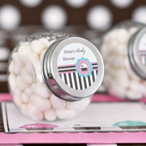 Personalized Candy Jars - Cupcake Party wedding favors