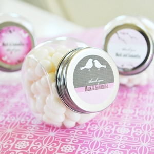 Elite Design Personalized Candy Jars wedding favors