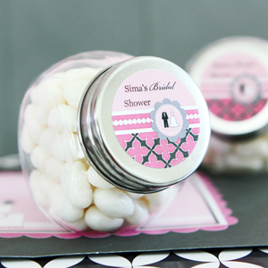 Personalized Candy Jars - Wedding Shower  wedding favors