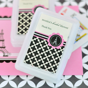 Personalized Playing Cards - Parisian Party wedding favors