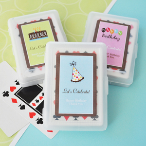 Personalized Birthday Playing Cards  wedding favors