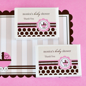Personalized Gum Boxes - Pink Baby wedding favors