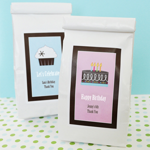 Personalized Birthday Muffin Mix  wedding favors