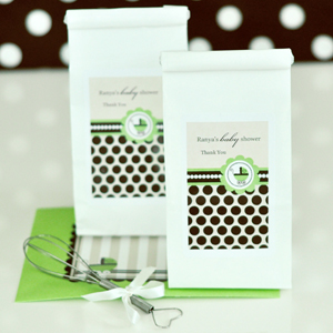 Personalized Muffin Mix - Green Baby wedding favors