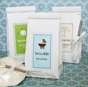 """A Baby is Sweet as a Muffin"" Muffin Mix wedding favors"