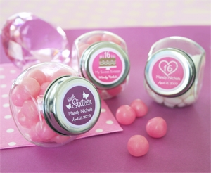 Sweet 15/16 Candy Jars wedding favors