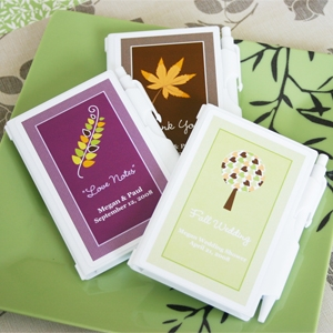 Fall Personalized Notebook Favors wedding favors