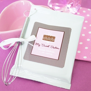 Sweet Sixteen (or 15) Personalized Hot Cappuccino + Optional Heart Whisk wedding favors