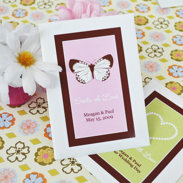 Plant With Love Personalized Flower Seed Favors Wedding Favors