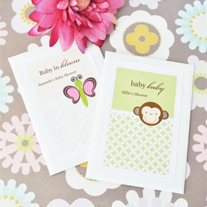 Baby Animals Personalized Seed Packets  wedding favors