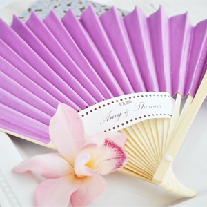 Colored Paper Fans wedding favors